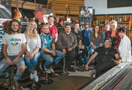 Recording Connection students and grads with Chris Lord-Alge
