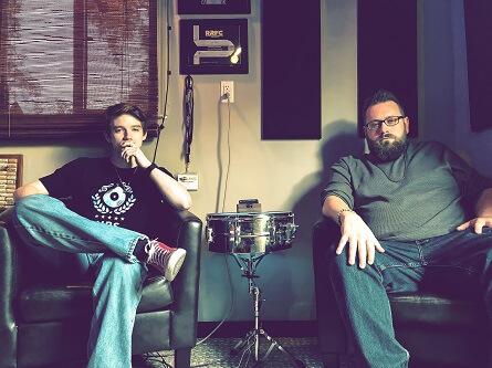 Collin Jacka and Shane Anderson at Unique Recording Studios