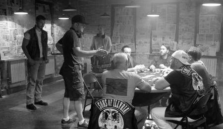Filmmaker Zef Cota directing a scene of The Trouble
