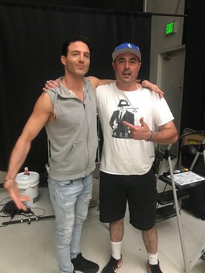 Anthony Marks and Gabe Gottstein on the Doucheaholics set