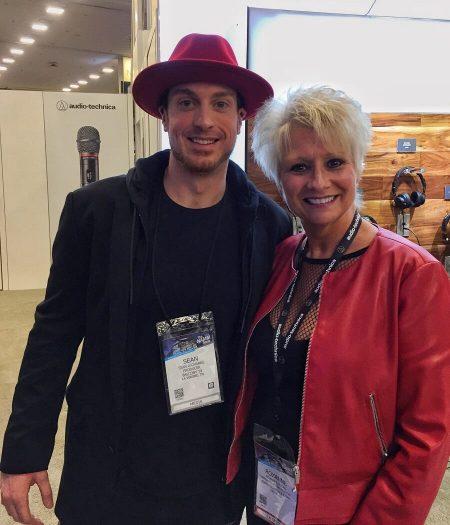 "Recording Connection mentor Sean Giovanni aka ""Gio"" and Roxanne Ricks of Audio Technica"