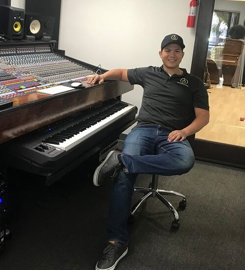 Recording Connection mentor Joel Valera