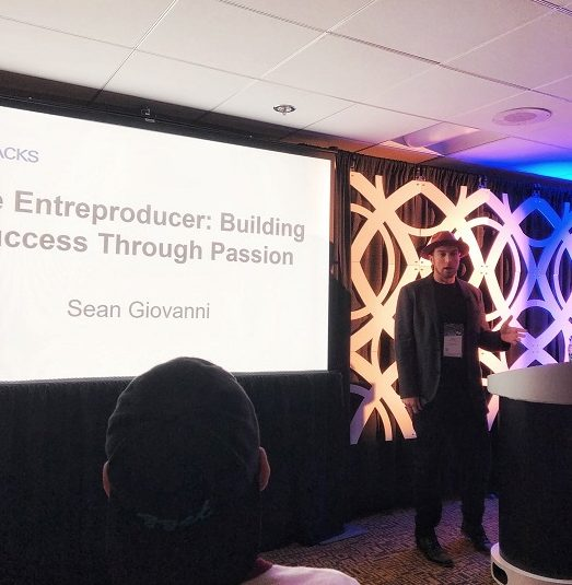 Sean Giovanni speaking at The NAMM Show 2019