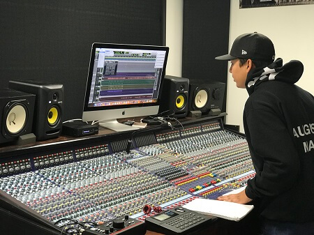 Recording Connection student Adrian Lopez