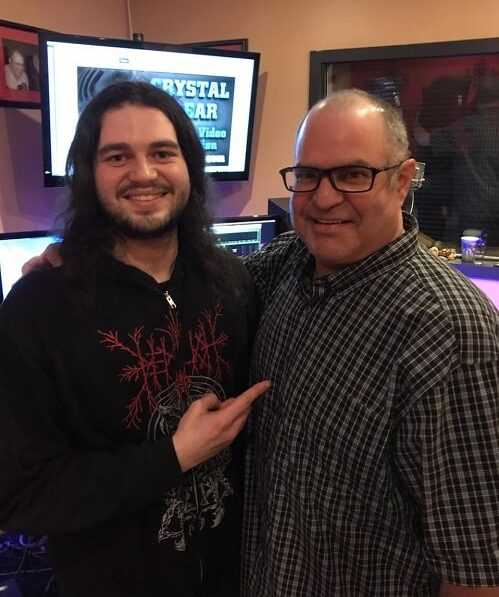 Recording Connection student Gabe Claypoole and mentor Joey Heier