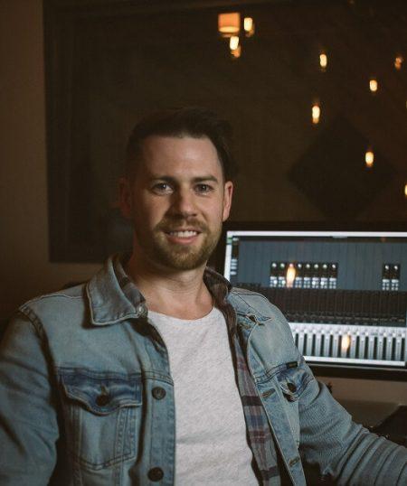Recording Connection graduate Brian Piper in recording studio