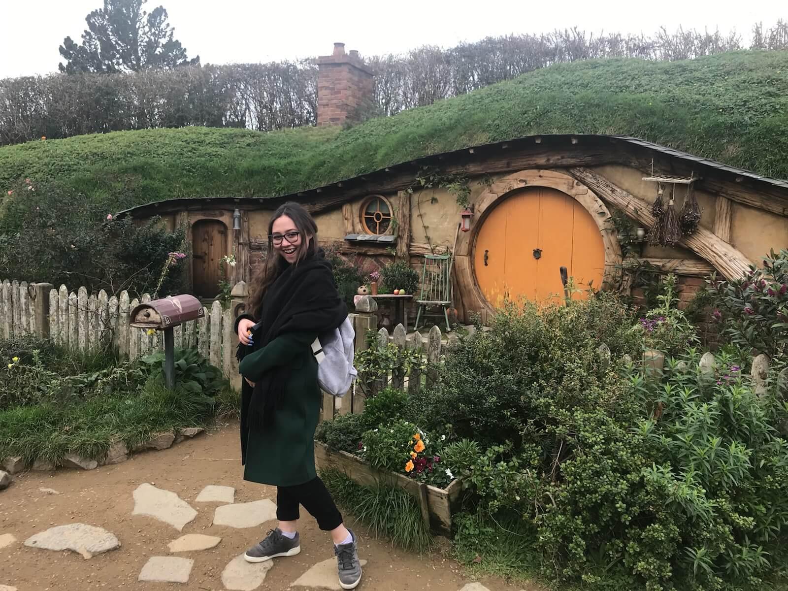 Film Connection graduate Isabella Jones, Hobbiton (Matamata, NZ)
